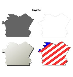 Fayette Map Icon Set vector