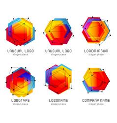 Futuristic abstract colorful logo vector