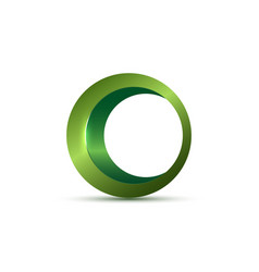 green organic products icon in frame 3d logo sign vector image