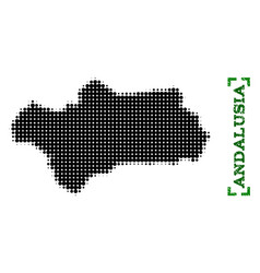 Halftone map of andalusia province and grunge vector