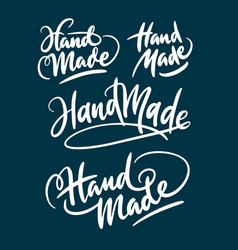 Hand made hand written typography vector