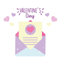 happy valentines day envelope message letter vector image