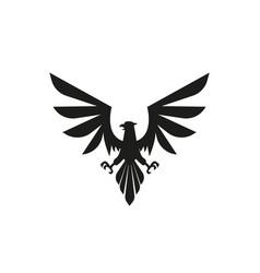 heraldic eagle silhouette vector image