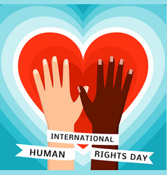 human rights day concept background flat style vector image