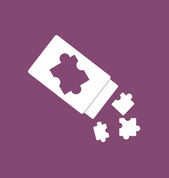 Icon on background last piece puzzle vector