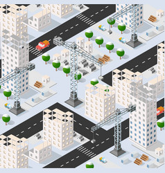 Isometric 3d urban building vector