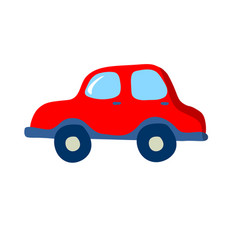 little cute vintage small car side view humor vector image