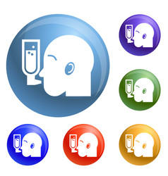 man head icons set vector image