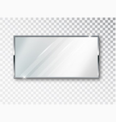 mirror rectangle isolated realistic mirror frame vector image
