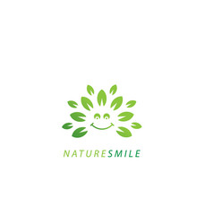 Nature smile logo vector