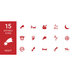 night icons vector image