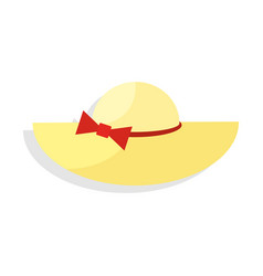 Panama hat icon on isolated background vector