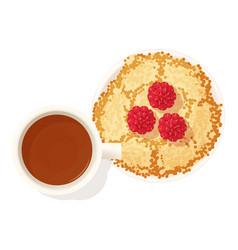 Pancake dessert icon isometric style vector