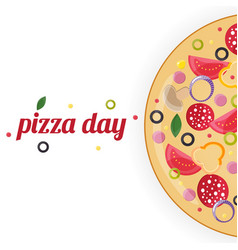 pizza day concept vector image
