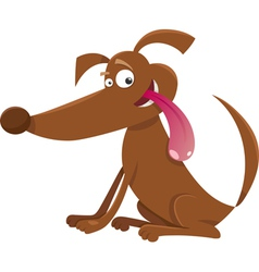 Playful dog cartoon vector
