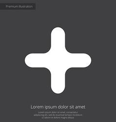 plus premium icon white on dark background vector image