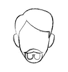 profile man male person head avatar vector image