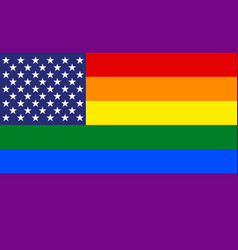 rainbow colors pride us abstract flag vector image
