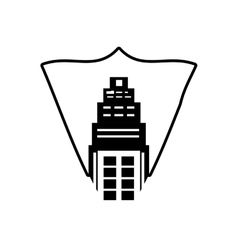Real estate building tower stamp outline vector