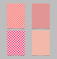 repeating heart pattern brochure template set vector image