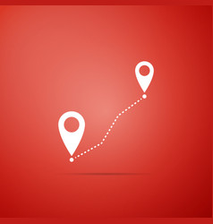 route location icon isolated map pointer sign vector image