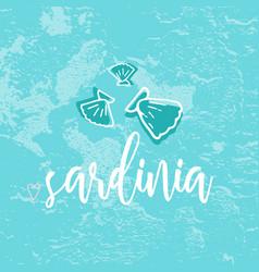 sardinia hand drawn vector image