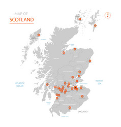 scotland map with administrative divisions vector image