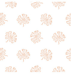 seamless pattern with plant leaves tropic vector image