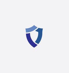security shield icon blue logo vector image