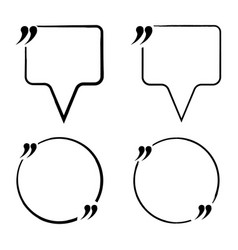 Set of quote blank icon and label template for vector