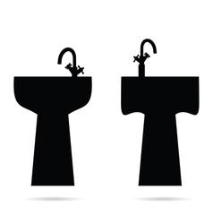 Sink in black vector