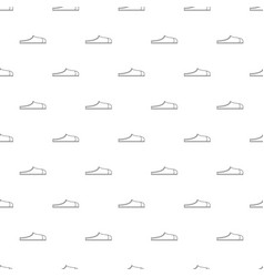 slippers pattern seamless vector image