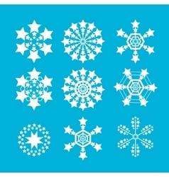 Snowflakes set snow flake icon vector