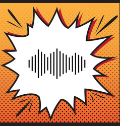 sound waves icon comics style icon on pop vector image