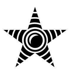 Star moon icon simple style vector
