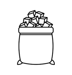Sugar bags isolated icon vector