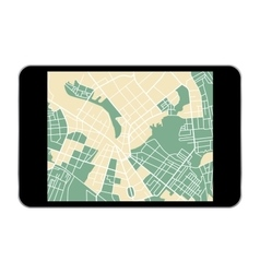 tablet map vector image