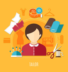 tailor concept vector image
