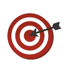 target arrow icon design vector image