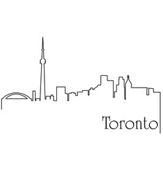 Toronto city one line drawing vector