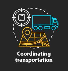 Transportation coordination chalk concept icon vector