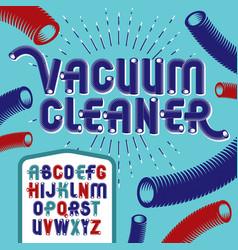 Trendy modern capital uppercase alphabet letters vector
