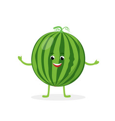 watermelon cartoon character isolated on white vector image