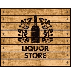Wine and liquor store sign vector