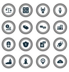 Work icons set with cashback 5-star review vector