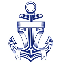 ancient anchor vector image vector image