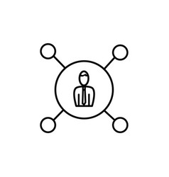 business network icon vector image
