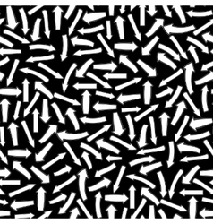 Different White Arrows Seamless Pattern vector image vector image