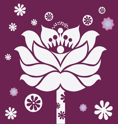 purple blossom vector image