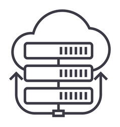 servers networkcloud line icon sign vector image vector image